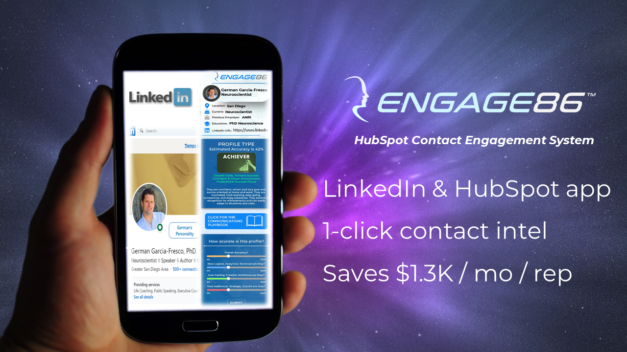 Engage86 HubSpot app pic
